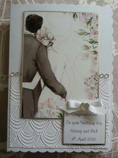 Hunkydory topper wedding  card