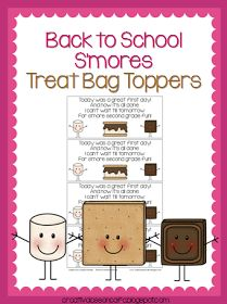 Creative Lesson Cafe: Yummy Back to School Treat Bag Toppers Freebie
