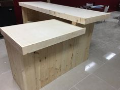 Up to 20' rustic retail sales counter reception desk by BuyfooBARS