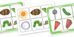 The Very Hungry Caterpillar Matching Cards and Board