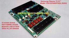 Samsung PN51D7000FFXZA / X sustain board: BN96-16528A, LJ92-01765A  #Samsung