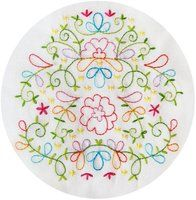 Fresh Blooms Embroidery Pattern