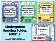 Kindergarten Reading Folder: Book Log is focused teaching you how to encourage…