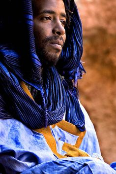 African Moor in Blue Scarf. المغرب (Morocco) by Andrea Loria, via Flickr