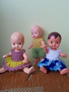panenky Igra Knitted Dolls, Retro Vintage, Knitting, Crochet, Mini, Baby, Toys, Puppets, Crochet Hooks