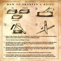 How to sharpen a knife by latonya