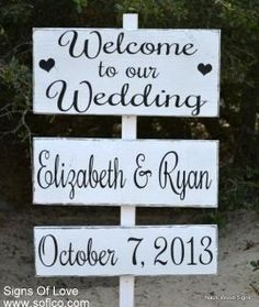 Directional Wedding Sign, Welcome Wedding Signs, Reception Ceremony Rustic Wood Signage Large Personalize