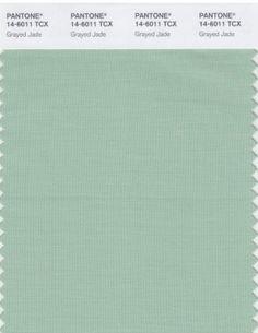 Pantone color trend: Grayed Jade
