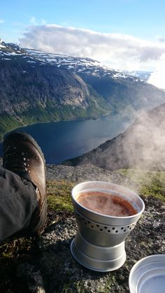 Cooking supper by Trolltunga Norway. [OC] [2160  3840] #reddit