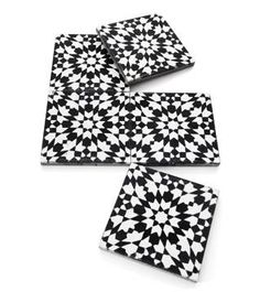 Marrakesh's Moroccan Black and White Tiles - ELLE DECOR - my bathroom