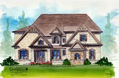 Garrell Associates, Inc.Rosemont House Plan  13106, Front Elevation, Traditional Style House Plans, Design by Michael W. Garrell