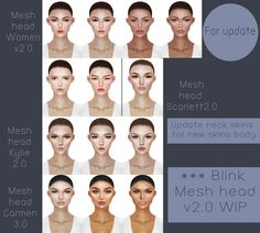 #Boatom #MeshHeads, #Applier #Upates 2.0 and the #new 3.0 #meshheads - I love that B.T creates the #faces #appliers ..... they become a perfect match with Variety! ||https://flic.kr/p/JwvRJW |