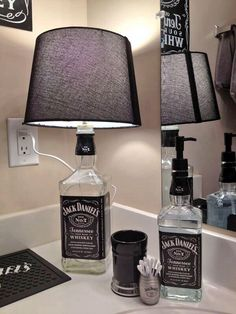 Man cave #accessories from old whiskey bottle