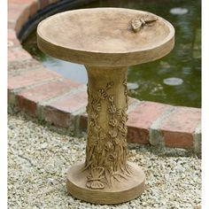 Have to have it. Campania International Lavender Cast Stone Bird Bath $139.99