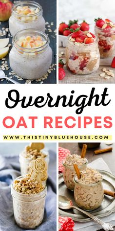 25 easy, healthy and delicious Overnight Oat Breakfasts. Make breakfast a breeze in your house with these simple make ahead family friendly breakfasts Delicious Breakfast Recipes, Easy Healthy Breakfast, Yummy Food, How To Make Breakfast, Breakfast For Kids, Healthy Family Meals, Family Recipes, 5 Ingredient Recipes, Oats Recipes
