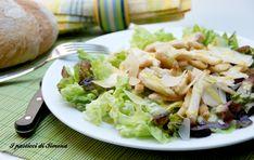 #Secondo piatto: insalata di #pollo con scaglie di parmigiano