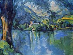 """Paul Cezanne """"Lake Annecy"""", 1896 (France, Post-Impressionism, 19th cent.)"""