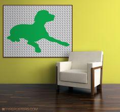 Huge Daisy Puppy Pop Art Print 30x40. $75.00, via Etsy.