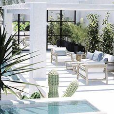 interior design instagram white outdoor space