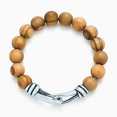 Paloma Picasso® Knot bead bracelet of wood and sterling silver, medium.  Tiffany - $325