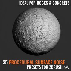 35 Weathered Surface Noise for Rocks and Concrete Zbrush, Concrete, Noise Maker, Surface, Content, Note, Simple, Check
