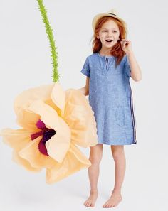 Frolic through the summer with this J.Crew girls chambray dress, found at Galleria Dallas! Kid's Fashion | J.Crew | Summer Style