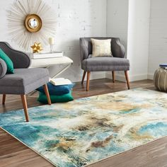 Free 2-day shipping. Buy Mohawk Home Prismatic Shoreline Water Contemporary Abstract Precision Printed Area Rug, 5'x8', Teal & Tan at Walmart.com Mid-century Modern, Contemporary, Mohawk Home, Online Home Decor Stores, Home Decor Outlet, Beige Area Rugs, Outdoor Rugs, Entryway Decor, Colorful Rugs