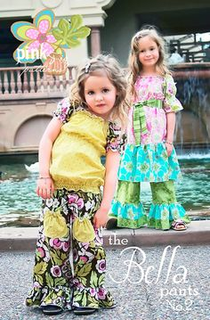 The Bella Pants by Pink Fig - size 6 mo thru 10 yrs - $11.99 : Whimsical Designs