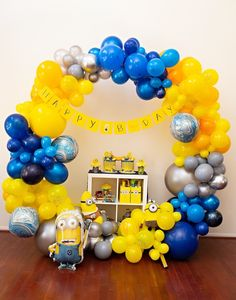 Searching for a party thats up to no good? Dare I say Despicable?!!! If so check out the mischief in this Minions Pandemic-Safe Birthday Party by Kristen Janes of Kio Kreations, out of Plainfield, IN! ...From the creative Minion party signage to the balloon installs and more, this event is wacky to the core! So grab a ban-an-a and peel away at these fab details that are on the way: Awesome Joint Minion-inspired Drip Cakes Amazing Minion-inspired Balloon Installs Minion Favor Bags Pandemic-friend