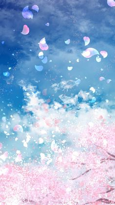 Blue Wallpaper iPhone # Source by Iphone Wallpaper Sky, Anime Scenery Wallpaper, Aesthetic Iphone Wallpaper, Flower Wallpaper, Aesthetic Wallpapers, Cherry Blossom Wallpaper Iphone, Blue Galaxy Wallpaper, Pink Clouds Wallpaper, Pastel Color Wallpaper