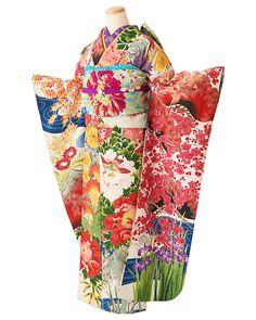 成人式 アンティーク着物レンタル【百花繚乱】SF26-1 - antique kimono colette