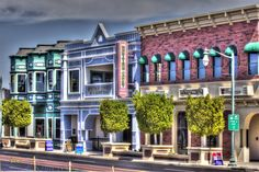 A few of the many unique buildings in downtown #GilbertAZ. Photo was taken by George Lenz and shared via Flickr.