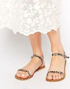 Leopard strap sandals | theglitterguide.com