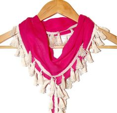 authentic  pink scarf cotton fabric scarflettecotton by seno, $20.00