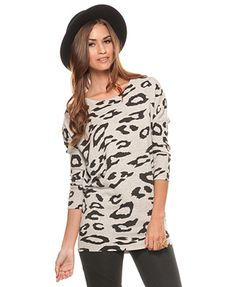 Leopard Angora Blend Tunic | FOREVER21 - 2082975777