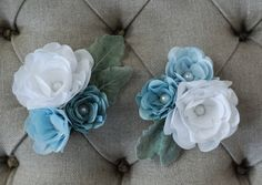 custom fabric flower corsages