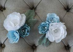 custom fabric flower corsages