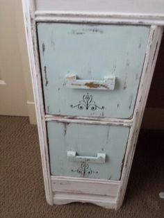 Stencilled drawers