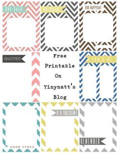 Freebie | Journaling Cards for Project Life · Scrapbooking | CraftGossip.com
