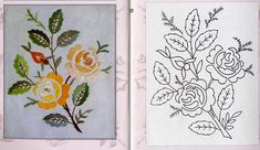 Pin Ups and Link Love: My Favourite Things This Week Bordado Jacobean, Jacobean Embroidery, Floral Embroidery Patterns, Hand Embroidery Flowers, Hand Embroidery Stitches, Hand Embroidery Designs, Vintage Embroidery, Cross Stitch Embroidery, Beginning Embroidery