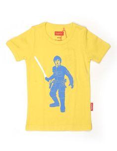 Geel T-shirt met blauwe Luke - Tapete