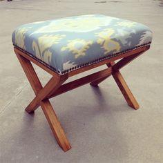 DIY Upholstered X Bench | Finished