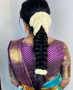 Bridal Hairstyle Indian Wedding, South Indian Bride Hairstyle, Bridal Hair Buns, Indian Bridal Hairstyles, Braided Hairstyles For Wedding, Saree Hairstyles, Bride Hairstyles, Hairstyle Ideas, Long Hair Wedding Styles
