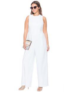 Lace Up Back Jumpsuit | Women's Plus Size Dresses | ELOQUII