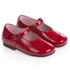 Girls Red Patent Leather Shoes Clarys