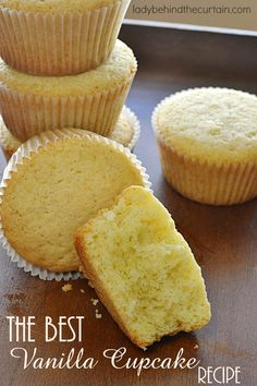 The Best Vanilla Cupcake Recipe | Just the right texture and moisture. When a recipe has TWO vanilla beans and heavy cream in it you know it's going to be good.