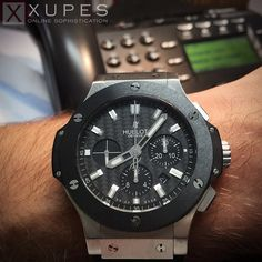 Old phone with this new piece - I love the direction that technology is heading. The @Hublot Big Bang Evolution - an absolutely incredible piece.