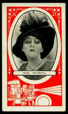 Cigarette Card - Silent Film Star ~ Madame Petrova by cigcardpix, via Flickr