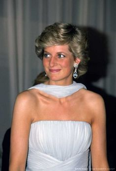 Princess Diana attending the Cannes Film Festival in 1987.