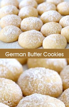 Cookies Recipes 35 of the Best Cookie Recipes on Planet Earth! – So Delicious and Yummy! German Christmas Cookies, German Cookies, Christmas Baking, German Butter Cookies Recipe, No Butter Cookies, German Butter Cake, Christmas Desserts, Sugar Cookies, Best Cookie Recipes